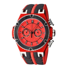 52mm Red Case Red Sterile Dial Luminous Chronograph Quartz Stop watch