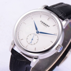40mm Debert Sapphire glass white dial Blue hands Automatic mens Watch