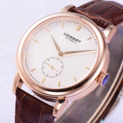 Debert 40mm White Dial Rosegold Case sapphire glass Seagul Automatic Watch