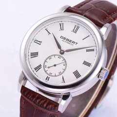 Polished 40mm Debert Sapphire glass white dial Roman marks Automatic mens Watch