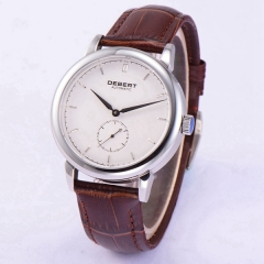Polished 40mm Debert Sapphire glass white dial Automatic unisex mens Watch