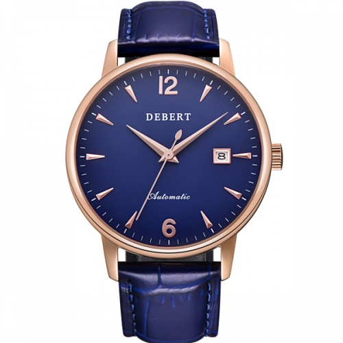 Genuine Leather 40mm Debert Watch Sapphire glass Japan Miyota Automatic mens Watches