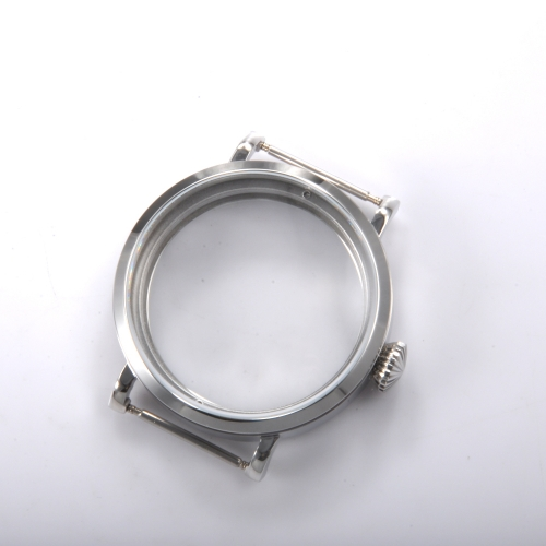Polished Stainless Steel 46mm Corgeut Watch Case Fit 6498 6497 Movement A003